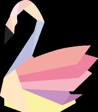 Print Notes Color swan abstraction - PrintSalon