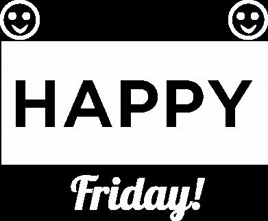 Print Plecak z przednią kieszenią Happy Friday - PrintSalon