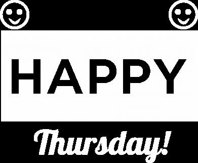 Print Plecak z przednią kieszenią Happy Thursday - PrintSalon