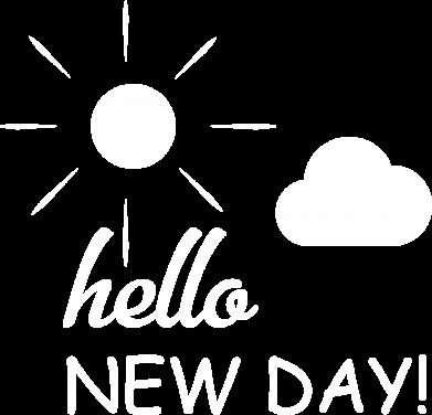 Print Plecak z przednią kieszenią Hello. New day! - PrintSalon