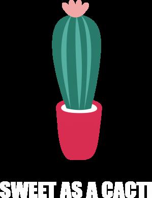 Print Plecak z przednią kieszenią Sweet as a cacti wih flower - PrintSalon