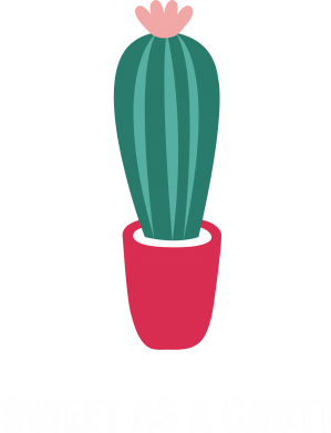 Print Męska bluza z kapturem Sweet as a cacti wih flower - PrintSalon