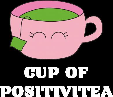 Print Men's Polo shirt Cup of positivitea - PrintSalon