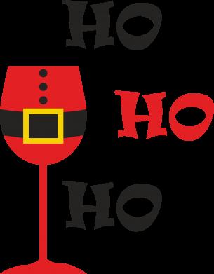 Print Sweatshirt HO HO HO Santa - PrintSalon