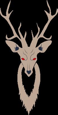 Print Men's Polo shirt Gentle deer - PrintSalon