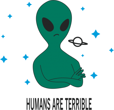 Print Mug 330ml Humans are terrible - PrintSalon