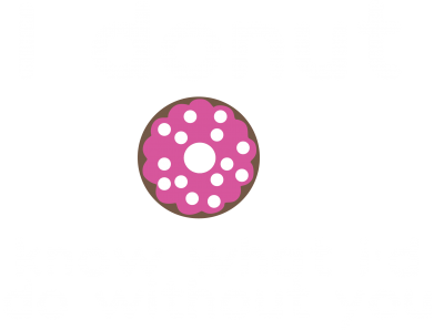 Print Męska bluza z kapturem I donut know what i'd do without you - PrintSalon