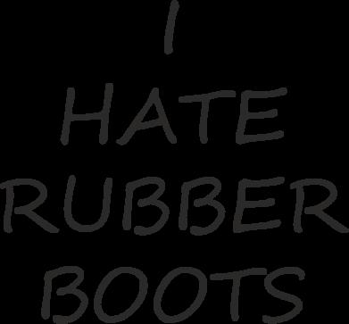 Print Etui na Xiaomi Mi6 I hate rubber boots - PrintSalon