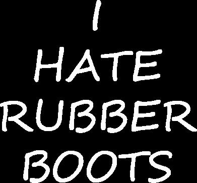 Print Plecak z przednią kieszenią I hate rubber boots - PrintSalon