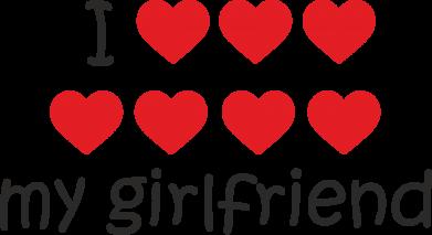 Print Etui na Xiaomi Mi6 I love my girlfriend - PrintSalon