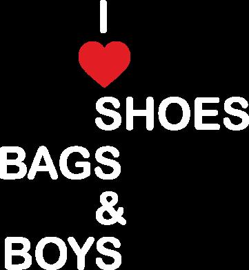 Print Plecak z przednią kieszenią I love shoes, bags, boys - PrintSalon
