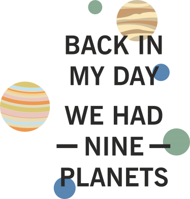 Print Etui na Xiaomi Mi6 Back in my day we had nine planets - PrintSalon