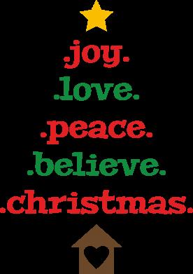 Print Etui na iPhone 11 Joy. Love. Peace. Believe. Christmas. - PrintSalon