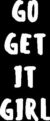 Print Plecak z przednią kieszenią Go get it girl - PrintSalon