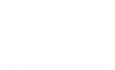 Print Plecak z przednią kieszenią I'm not a morning person - PrintSalon