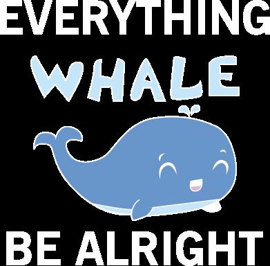 Print Bokserki męskie Everything whale be alright - PrintSalon