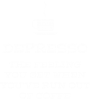 Print Męska bluza z kapturem Depresso - PrintSalon