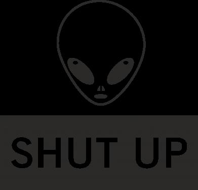 Print Mug 330ml Hsut up Alien - PrintSalon