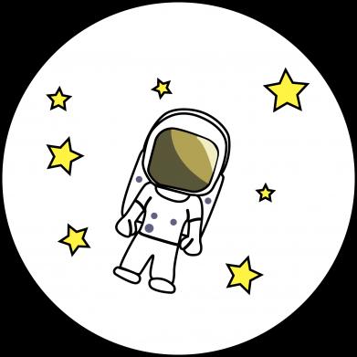 Print Męska bluza z kapturem Kosmonauta - PrintSalon