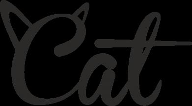 Print Etui na Xiaomi Mi6 Cat inscription with ears - PrintSalon