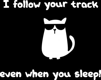 Print Męska bluza z kapturem I follow your track even when you sleep! - PrintSalon
