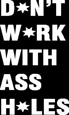 Print Bokserki męskie Don't work with ass holes - PrintSalon