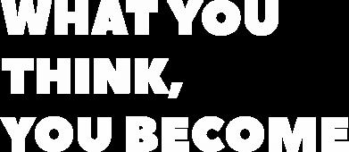 Print Plecak z przednią kieszenią What you think you become - PrintSalon