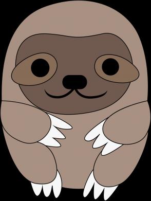 Print Damska koszulka polo Sloth baby - PrintSalon