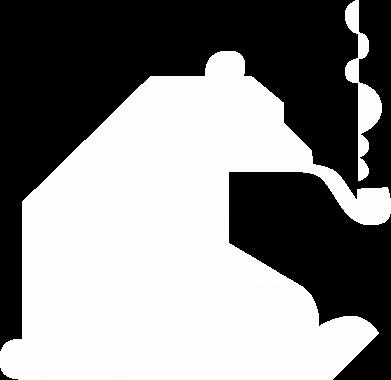 Print Notes Niedźwiedź z fajką - PrintSalon