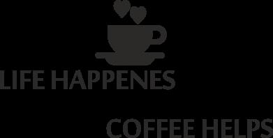 Print Etui na Xiaomi Mi6 Life happenes, coffee helps - PrintSalon