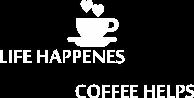 Print Koszulka Polo Life happenes, coffee helps - PrintSalon