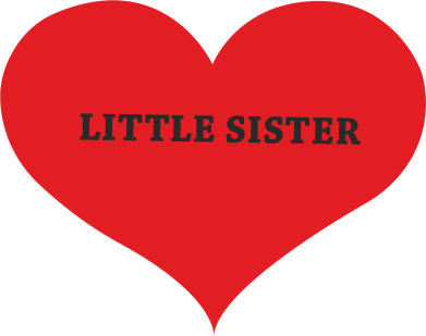 Print Etui na iPhone 11 Pro Max Little sister, napis w sercu - PrintSalon