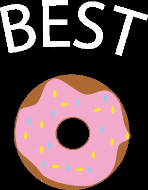 Print Bokserki męskie Best donut - PrintSalon