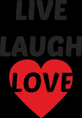 Print Etui na Xiaomi Mi6 Live laugh love - PrintSalon