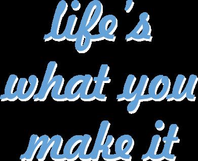 Print Plecak z przednią kieszenią Life's what you make it - PrintSalon