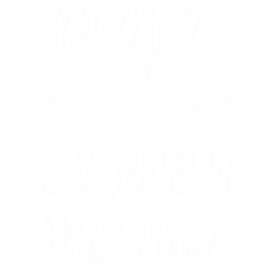 Print Plecak z przednią kieszenią Don't stress meowt - PrintSalon
