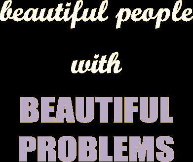 Print Bokserki męskie Beautiful people with beauiful problems - PrintSalon