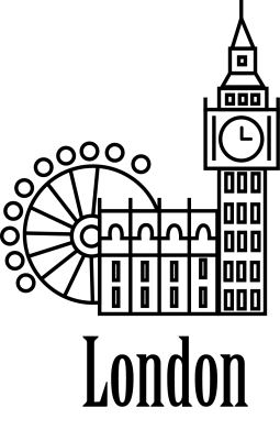 Print Męska bluza z kapturem Napis: London - PrintSalon