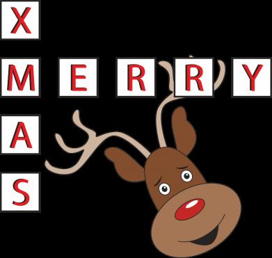 Print Sweatshirt Merry Xmas Moose - PrintSalon