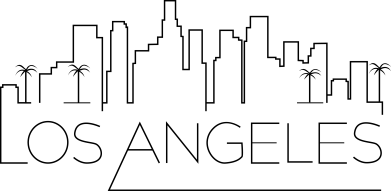Print Męska bluza z kapturem LA - PrintSalon