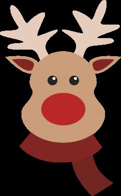 Print Water bottle Christmas moose - PrintSalon