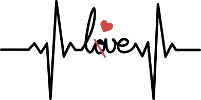 Print Damska bluza Miłość i serce - PrintSalon