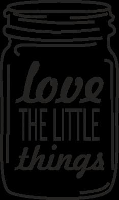 Print Mug 330ml Love the little things - PrintSalon