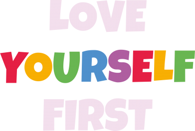 Print Męska bluza z kapturem Love yourself first - PrintSalon