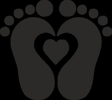 Print Baby bodysuit Baby love - PrintSalon