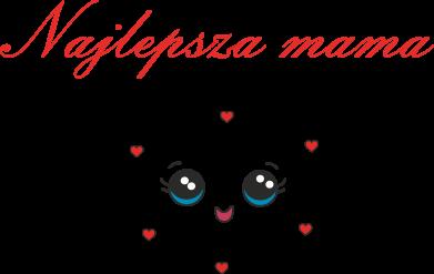 Print Damska koszulka polo Najlepsza mama - PrintSalon
