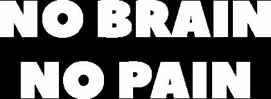 Print Plecak z przednią kieszenią NO BRAIN NO PAIN - PrintSalon
