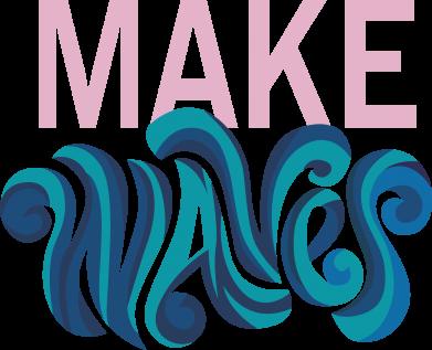 Print Bokserki męskie Make wawes - PrintSalon