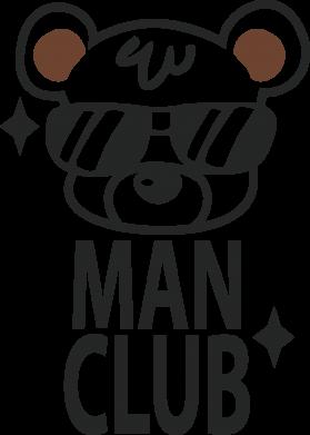 Print Baby bodysuit Man Club - PrintSalon