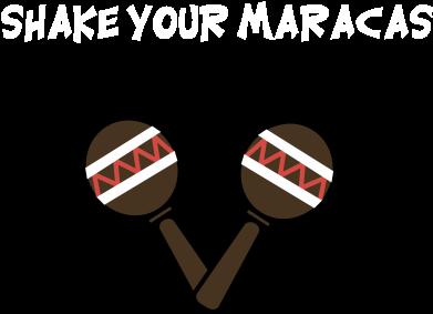 Print Plecak z przednią kieszenią Shake your maracas - PrintSalon